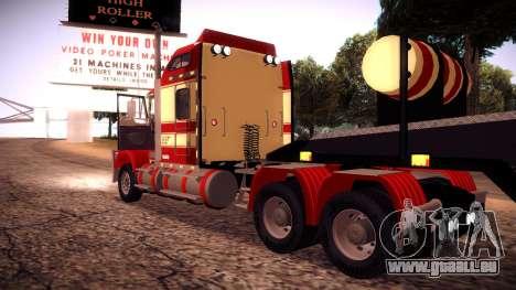 Kenworth RoadTrain T800 für GTA San Andreas Rückansicht