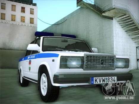 Lada 2107 Rendőrség pour GTA San Andreas