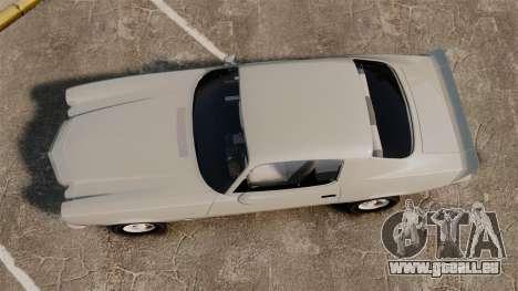 Chevrolet Camaro Z28 1970 v1.1 pour GTA 4 est un droit