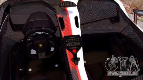 Lamborghini Aventador J 2012 Carbon pour GTA 4 est une vue de l'intérieur
