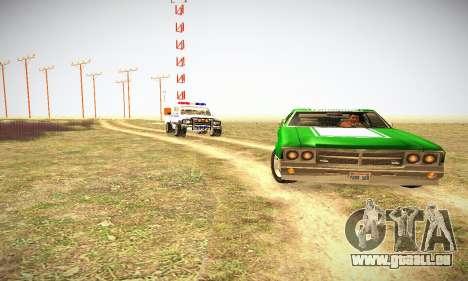GTA IV Sabre Turbo für GTA San Andreas Innenansicht