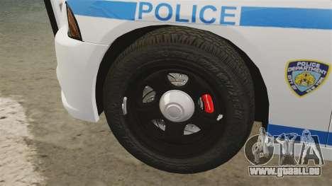 Dodge Charger 2012 NYPD [ELS] pour GTA 4 est une vue de l'intérieur
