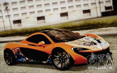 McLaren P1 2014 v2 für GTA San Andreas Rückansicht