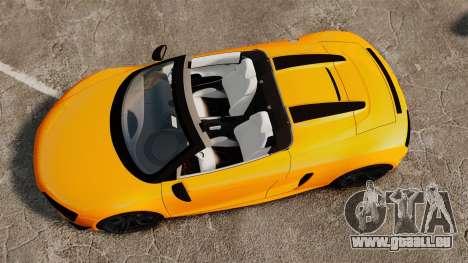 Audi R8 GT Spyder für GTA 4 rechte Ansicht