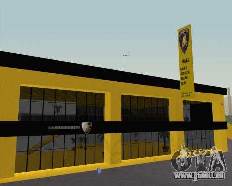 Lamborghini Dealer San Fierro pour GTA San Andreas deuxième écran