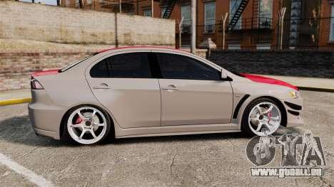Mitsubishi Lancer Evolution X GSR 2008 für GTA 4 linke Ansicht