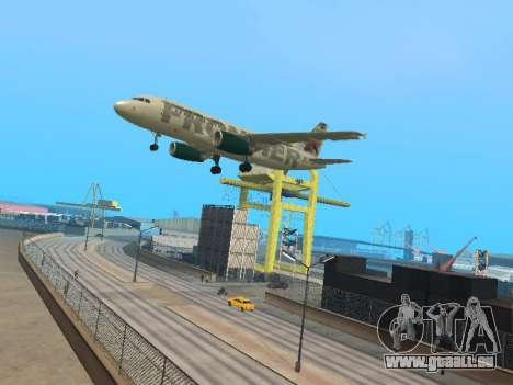 Airbus A319-111 Frontier Airlines Red Foxy pour GTA San Andreas vue intérieure