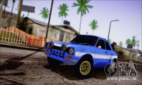 Ford Escort Mk1 RS1600 pour GTA San Andreas
