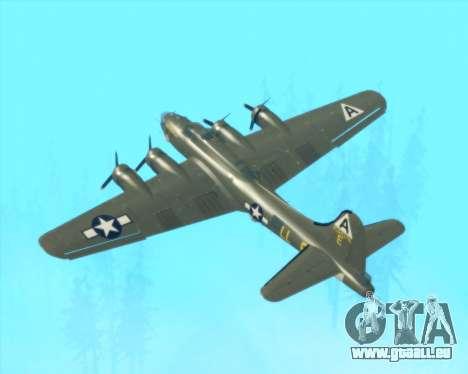 B-17G für GTA San Andreas obere Ansicht