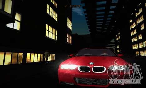 BMW E46 M3 CSL pour GTA San Andreas vue intérieure