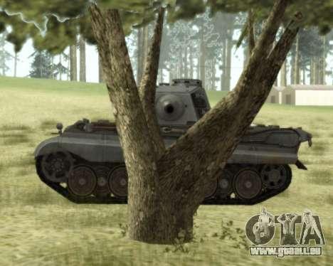 PzKpfw VIB Tiger II pour GTA San Andreas sur la vue arrière gauche
