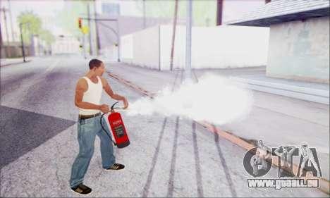Nouvel extincteur 2 pour GTA San Andreas troisième écran