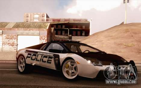Lamborghini Murciélago Police 2005 pour GTA San Andreas vue de côté