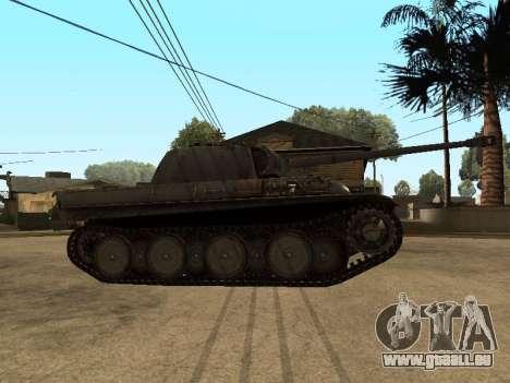 Pzkfpw V Panther pour GTA San Andreas sur la vue arrière gauche