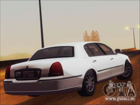 Lincoln Town Car 2010 für GTA San Andreas rechten Ansicht