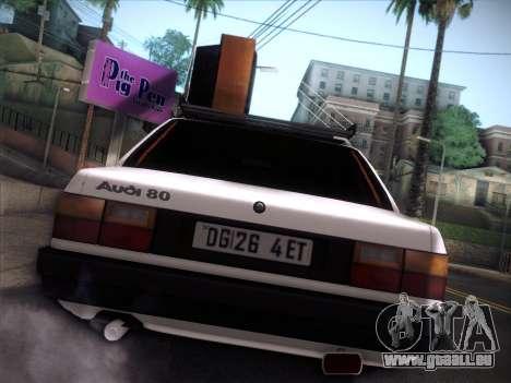 Audi 80 B2 v2.0 pour GTA San Andreas laissé vue
