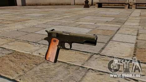 Pistole Colt M1911 Black Edition für GTA 4