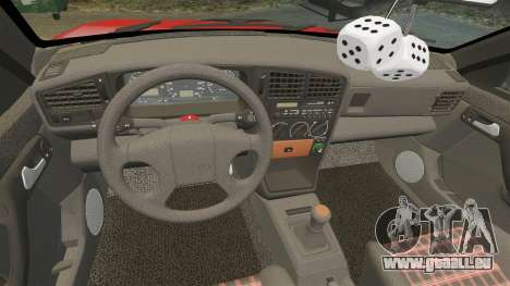 Volkswagen Passat B3 1995 für GTA 4 obere Ansicht