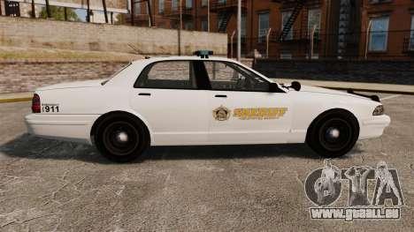 GTA V Police Vapid Cruiser Sheriff pour GTA 4 est une gauche