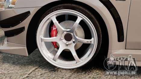 Mitsubishi Lancer Evolution X GSR 2008 für GTA 4 Rückansicht