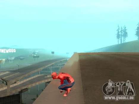 S'accroupir comme amazing Spider-man pour GTA San Andreas