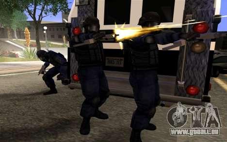 SWAT de Manhunt 2 pour GTA San Andreas troisième écran