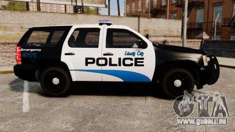 Chevrolet Tahoe Police [ELS] pour GTA 4 est une gauche