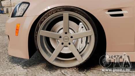 Pontiac G8 GXP [VE] 2009 für GTA 4 Rückansicht