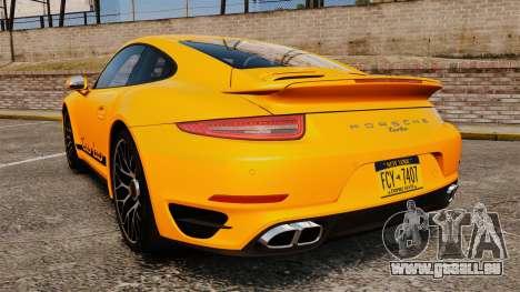Porsche 911 Turbo 2014 [EPM] Turbo Side Stripes pour GTA 4 Vue arrière de la gauche