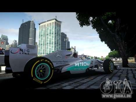 Mercedes F1 W04 pour GTA 4 est une gauche