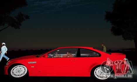 BMW E46 M3 CSL pour GTA San Andreas vue arrière