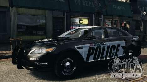 Ford Taurus Police Interceptor 2010 pour GTA 4 Vue arrière de la gauche