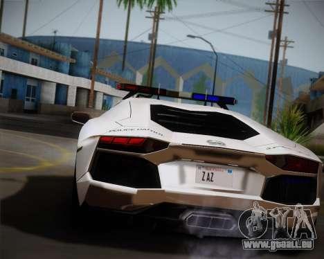 Lamborghini Aventador LP700-4 2012 RCPD V1.0 für GTA San Andreas zurück linke Ansicht