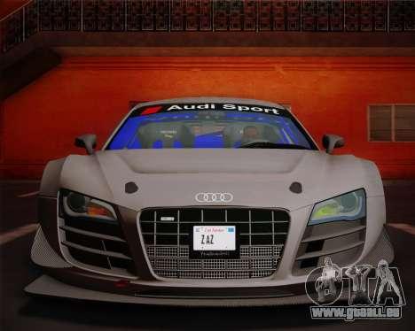 Audi R8 LMS Ultra v1.0.1 DR pour GTA San Andreas vue intérieure