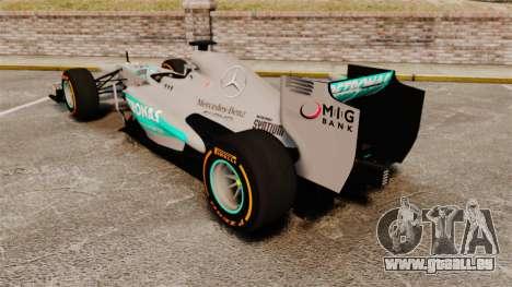 Mercedes AMG F1 W04 v3 pour GTA 4 Vue arrière de la gauche