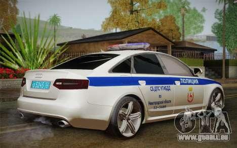 Audi RS6 Police für GTA San Andreas linke Ansicht