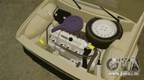 Zastava Yugo 128 pour GTA 4 est une vue de l'intérieur