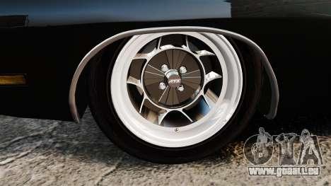 Dodge Charger 1969 für GTA 4 Rückansicht