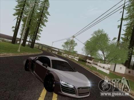 Audi R8 V10 Plus für GTA San Andreas Innenansicht