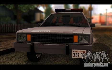 Ford Fairmont 1978 4dr Police für GTA San Andreas zurück linke Ansicht