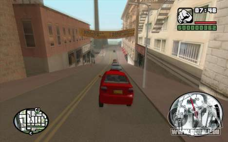 Speedometr da Rockstar pour GTA San Andreas deuxième écran