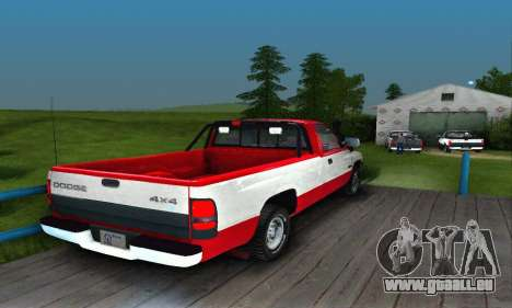 Dodge Ram 2500 pour GTA San Andreas vue de droite