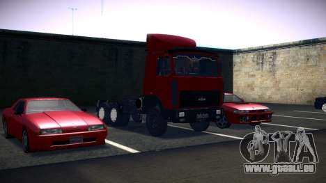 MAZ 5432 pour GTA San Andreas vue arrière