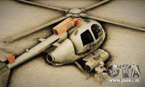 Spec Ops The Line AH6 pour GTA San Andreas sur la vue arrière gauche