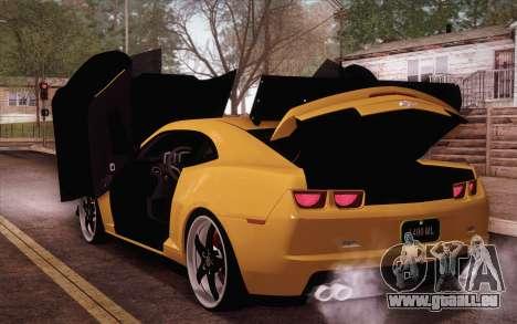Chevrolet Camaro ZL1 für GTA San Andreas Rückansicht
