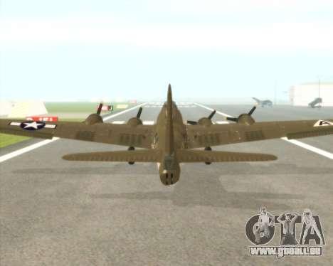 B-17G für GTA San Andreas Rückansicht