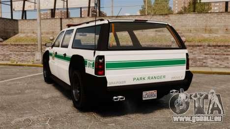 GTA V Declasse Granger Park Ranger für GTA 4 hinten links Ansicht