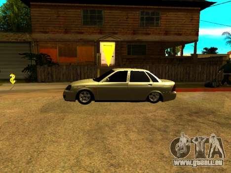Lada 2170 Priora Gold pour GTA San Andreas laissé vue