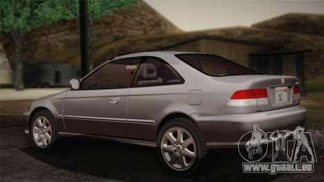 Honda Civic Si 1999 Coupe für GTA San Andreas linke Ansicht