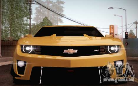 Chevrolet Camaro ZL1 pour GTA San Andreas salon